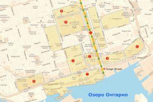 Карта Торонто