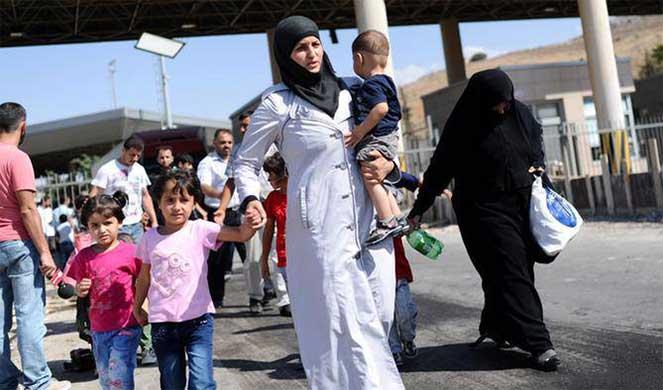 Беженцы с Сирии