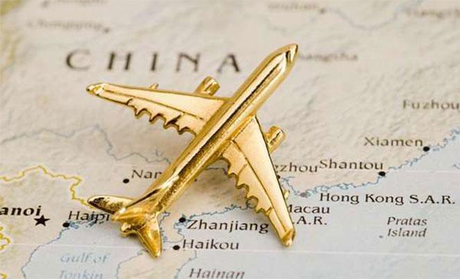 Перелет в Китай