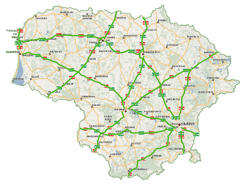 Платные дороги Литвы